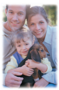Safe Allergy Treatment Photo of Family and Pet