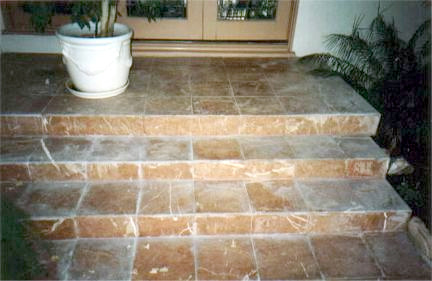 Exterior Stone Steps Prior To Cleaning